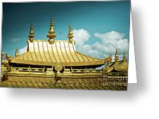 Lhasa Jokhang Temple Fragment Tibet Artmif.lv Greeting Card