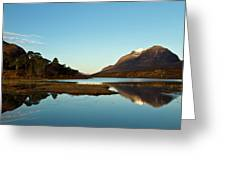 Liathach Sunrise Reflections Greeting Card