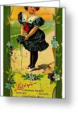 Libbys Bookmark Vintage With Girl On Beach Greeting Card