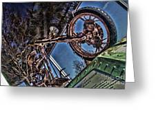 Liberty Ambassador Copper Motorcycle Statue Of Liberty Ny Greeting Card