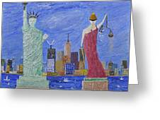 Liberty And Justice  Greeting Card