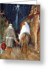 Liberty - Arriving In Bethlehem Greeting Card