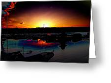 Liberty Bay Sunset Greeting Card