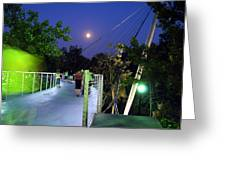 Liberty Bridge At Night Greenville South Carolina Greeting Card
