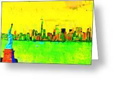 Liberty In New York - Pa Greeting Card