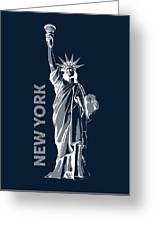 Liberty, New York, Popart Greeting Card