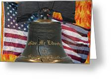Liberty On Fire Greeting Card