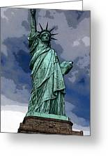 Liberty Poster Greeting Card