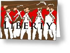 Liberty Revolution Brown Greeting Card
