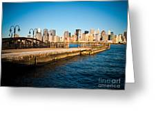 Liberty State Park Pier Greeting Card