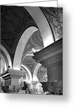 Library Of Congress 3 Black And White Greeting Card