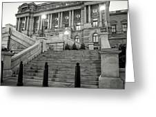 Library Of Congress In Black And White Greeting Card