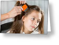Lice In Head Greeting Card