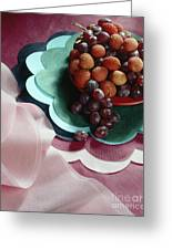 Lichees And Grapes Greeting Card
