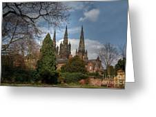 Lichfield Cathedral Greeting Card