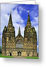 Lichfield Cathedral - The West Front Greeting Card