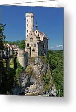 Lichtenstein Castle Greeting Card by Yair Karelic