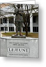 Lieutenant General John Archer Lejeune Greeting Card