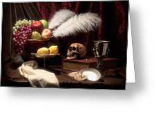 Life And Death In Still Life Greeting Card