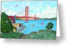 Life At The Golden Gate Greeting Card