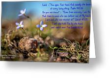 Life Delicate And Strong Greeting Card