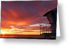 Life Guard Tower Greeting Card