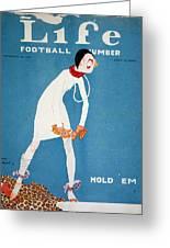 Life: Hold Em, 1925 Greeting Card