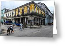 Life In Old Town Havana Greeting Card