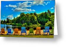 Life In The Adirondack Mountains Greeting Card