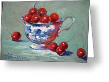 Life Is Just A Cup Of Cherry Greeting Card