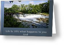 Life Is Staying Above The Debris Greeting Card