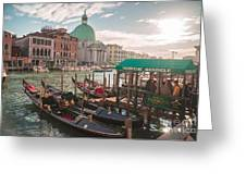 Life Of Venice - Italy Greeting Card