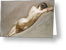 Life Study Of The Female Figure Greeting Card by William Edward Frost