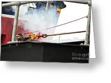 Lifeboat Chocks Away  Greeting Card by Terri Waters