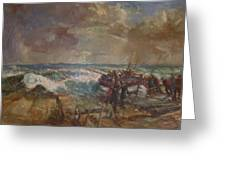 Lifeboat Launch Greeting Card