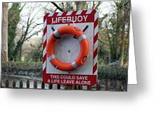 Lifebuoy Theft Greeting Card