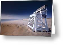 Lifeguard Chair - Nauset Beach Greeting Card by Dapixara Art