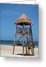 Lifeguard Chair - Riviera Maya Mexico Greeting Card
