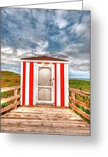Lifeguard Hut Greeting Card