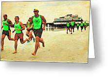 Lifeguard Runners Greeting Card