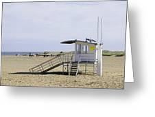 Lifeguard Station At Skegness Greeting Card