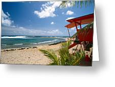 Lifeguard Station On The Beach Poipu Beach Kauai Hawaii Greeting Card