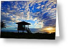 Lifeguard Station Sunrise Greeting Card