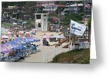 Lifeguard Tower Laguna Greeting Card