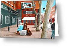 Liffey Street, Dublin Greeting Card