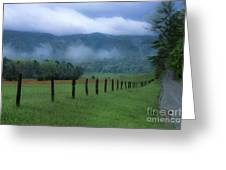 Lifting Fog In Cades Cove Greeting Card