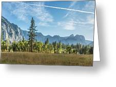Light Across The Valley Greeting Card