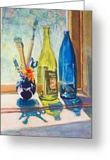 Light And Bottles Greeting Card