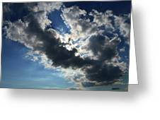 Light And Dark Cloud Greeting Card