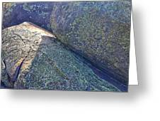 Light And Lichen On Eroded Basalt Greeting Card